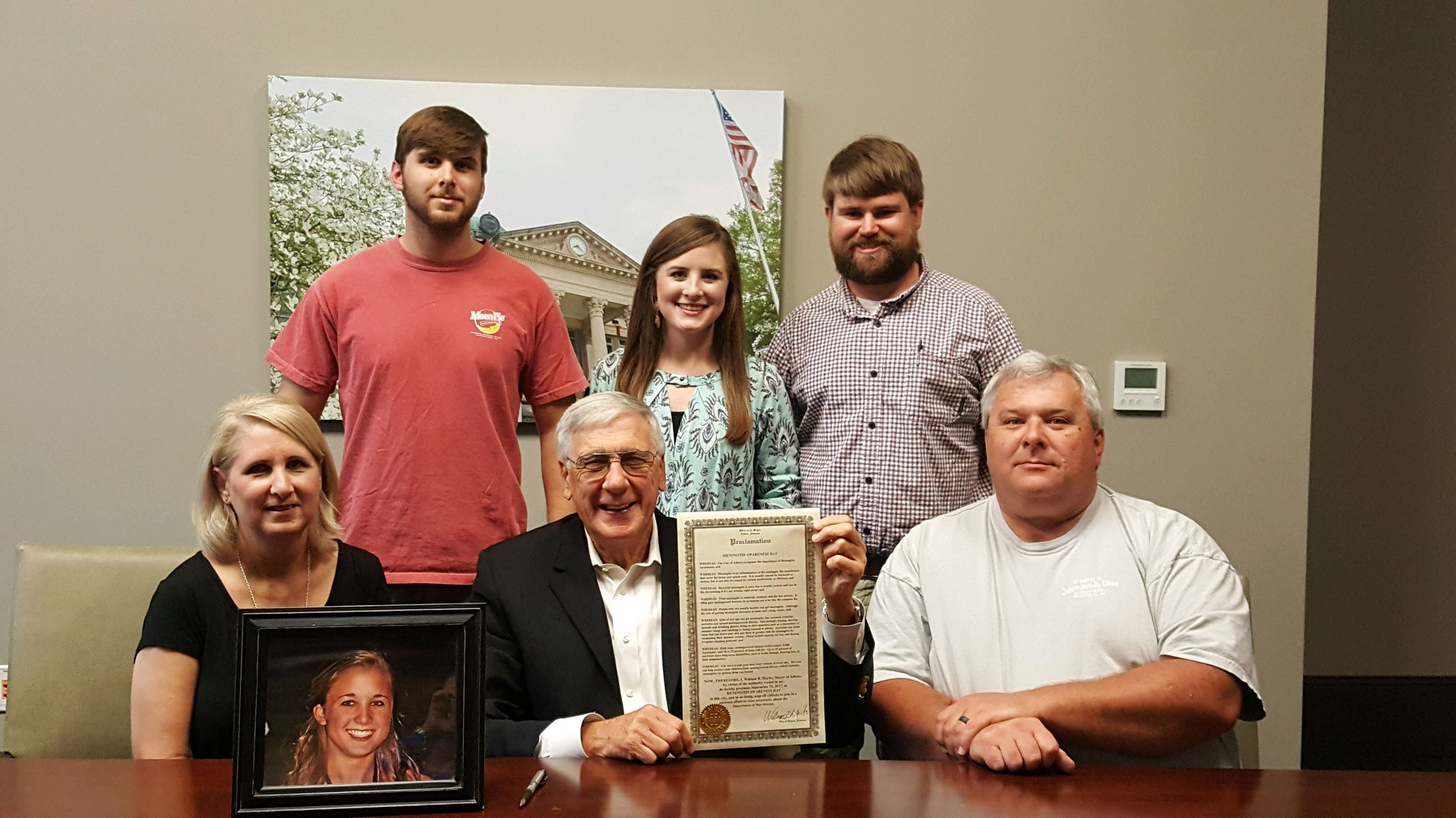 Elkins family with Mayor Marks