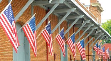 Flags on the Veterans Museum