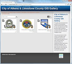 GIS Gallery screenshot of website
