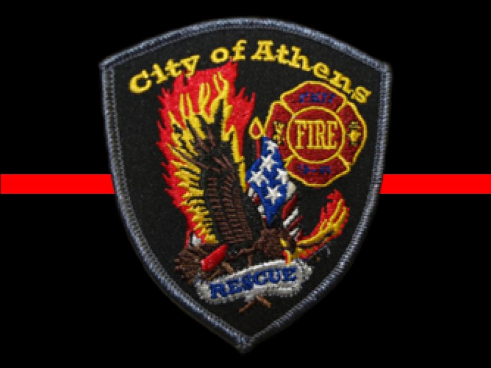 Athens Fire Patch - Thin Red Line