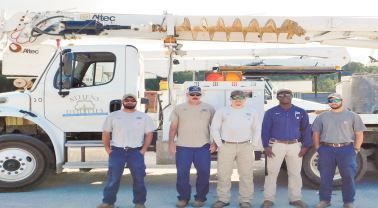 Athens Utilities crew photo