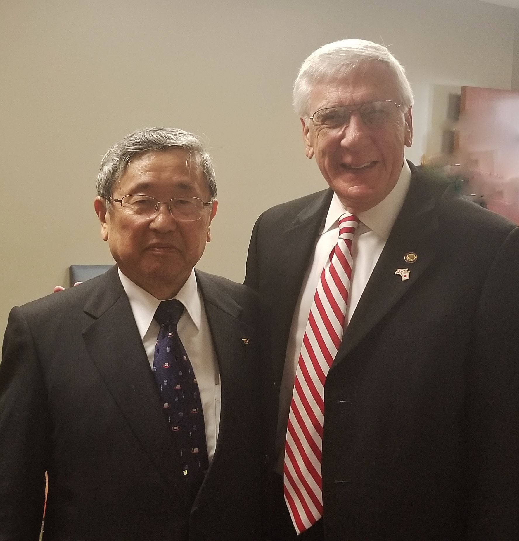 Dr. Toyoda and Mayor Marks