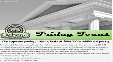 Friday Focus Newsletter Front Page