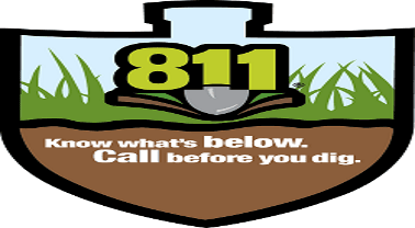 Call 811 graphic with shovel