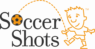 Soccer Shots Logo with a soccer ball as a letter