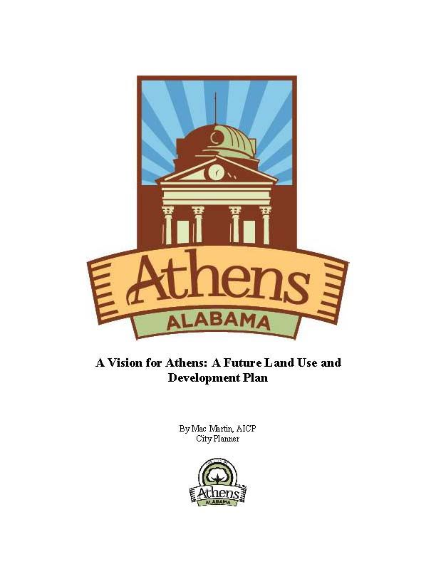 Athens Future Land Use Plan image of cover page