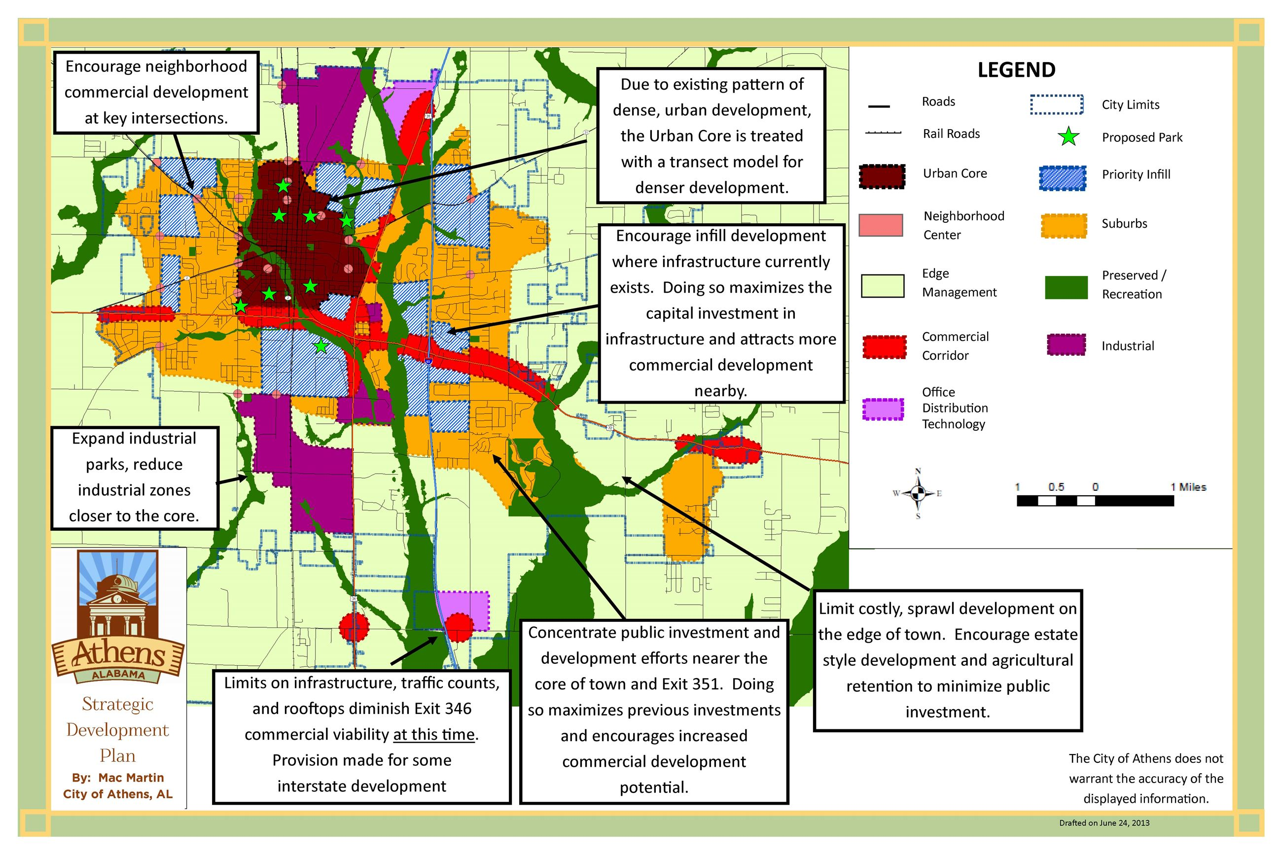 Strategic Development and Land Use Plan 2 map