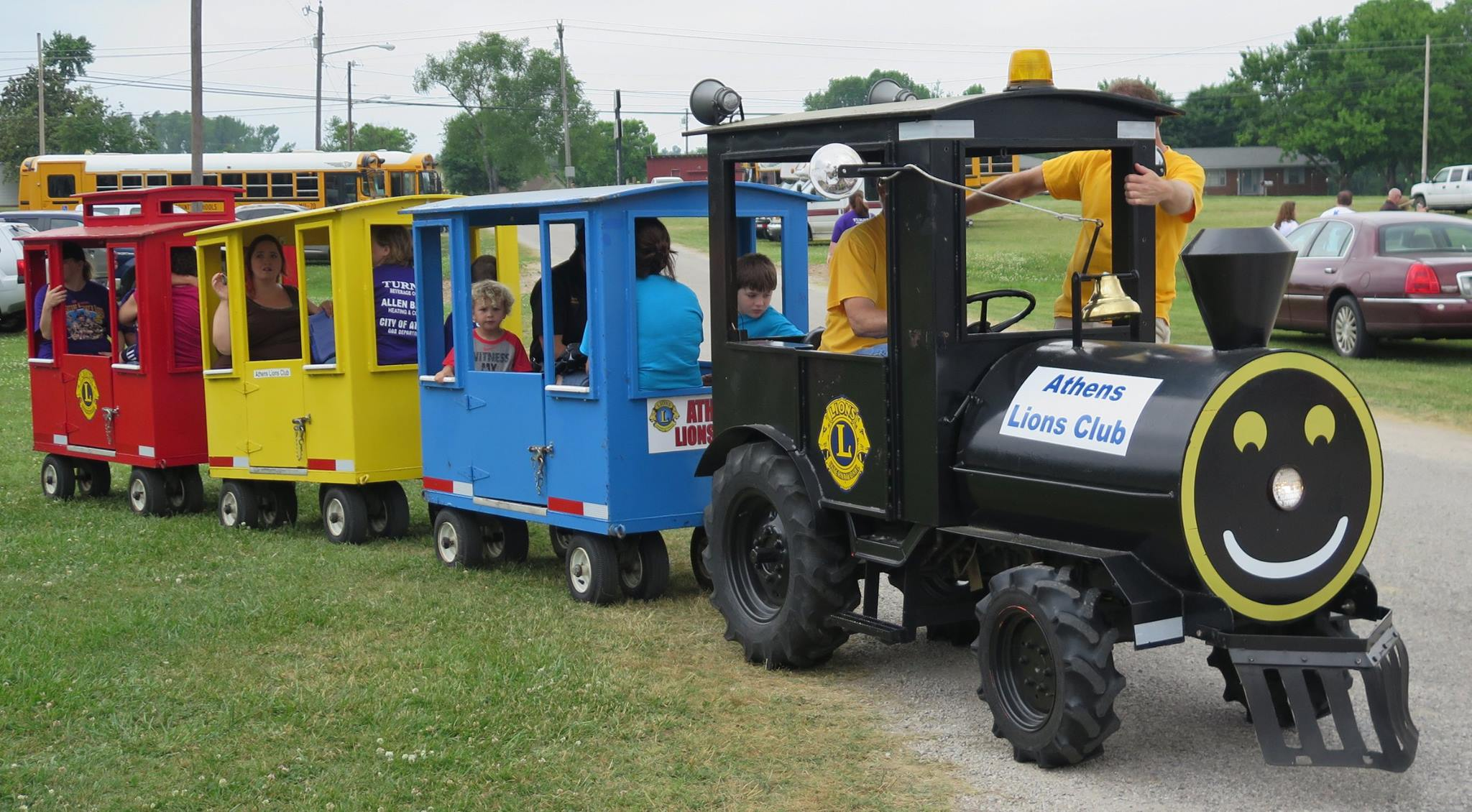 The Lions Club Train runs at various community events