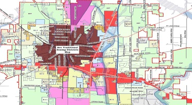 Map for draft zoning ordinance